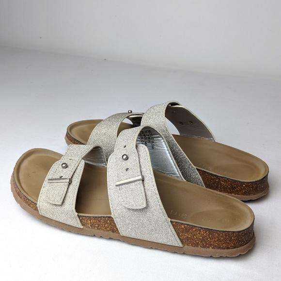 Size 85 Silver Sandals 2 Strap | Poshmark